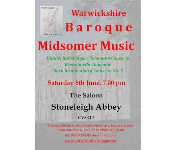 Baroque Concert at Stoneleigh Abbey